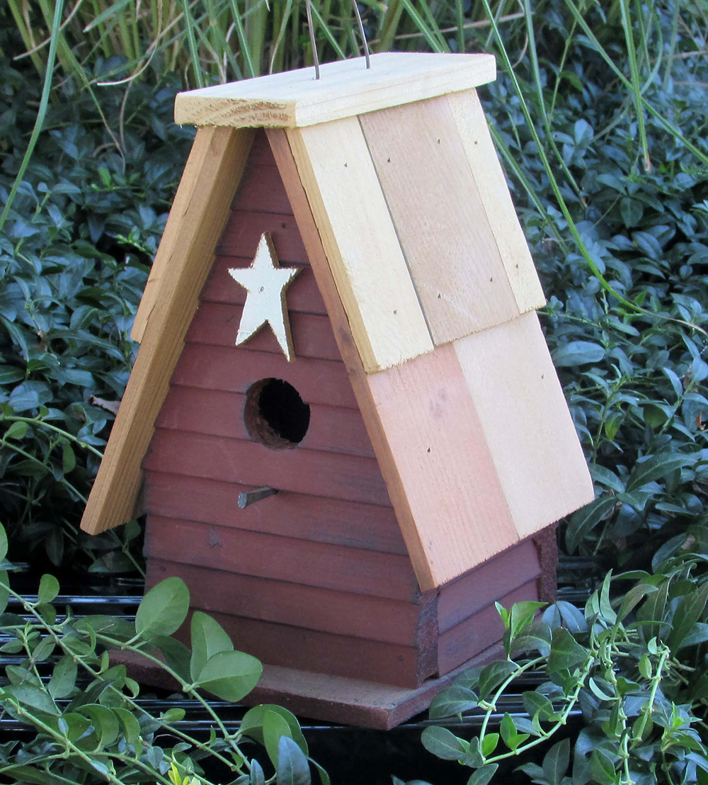 BBCRBH Board and Batten Cedar Roof Birdhouse