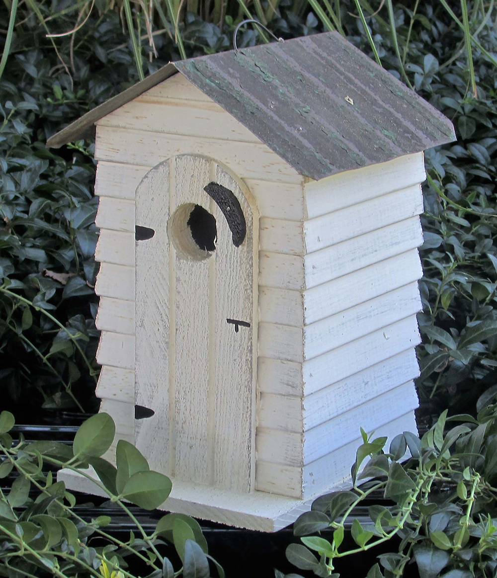 BBOHBH Board and Batten Outhouse Birdhouse