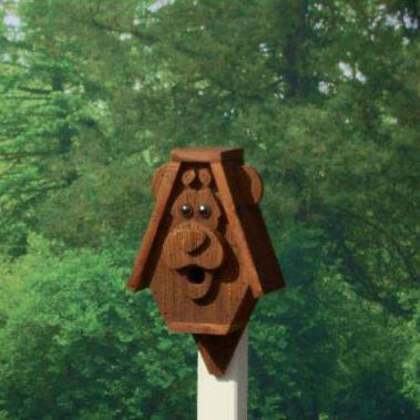 CABHB Cartoon Animal BIrdhouse bear