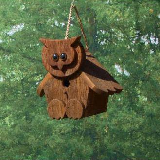 CABHO Cartoon Animal owl birdhouse