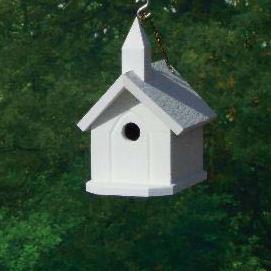 CBH church birdhouse white