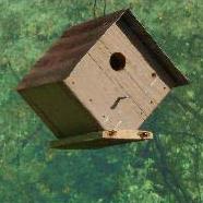 DTRBH diamond tin roof birdhouse