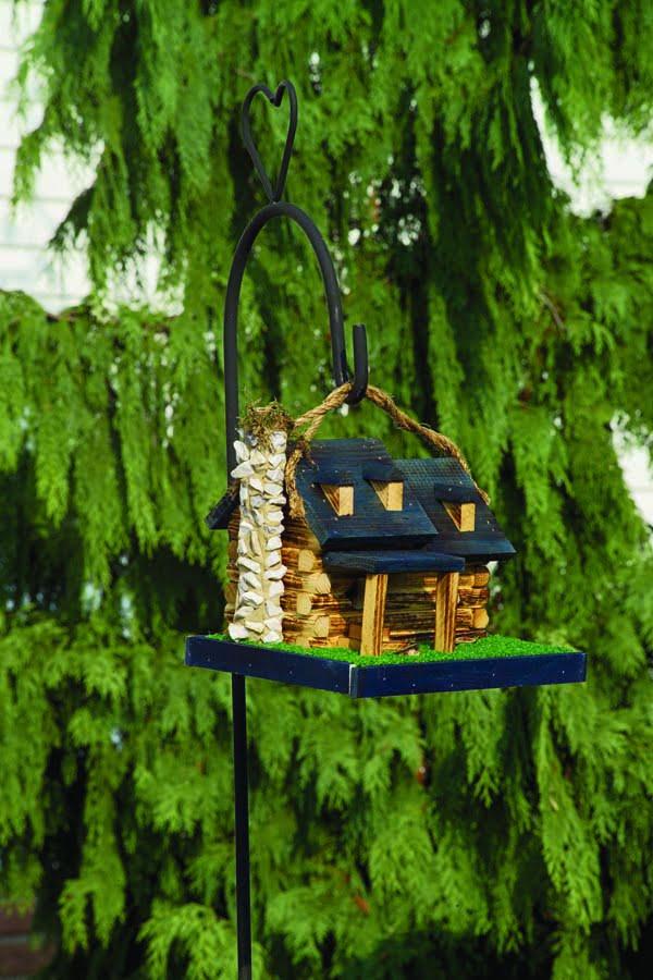 LCBH Log Cabin Birdhouse