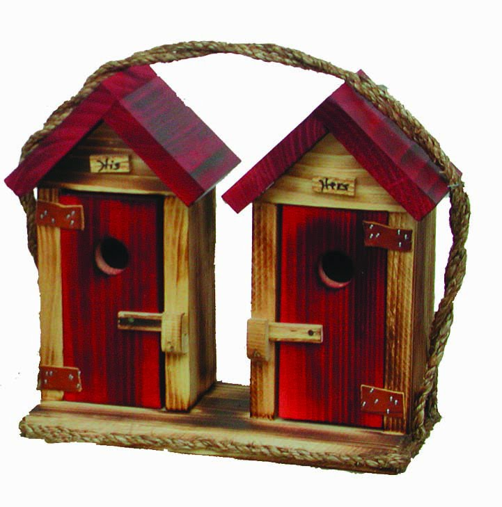 LHHOBH Large His Hers Outhouse Birdhouse