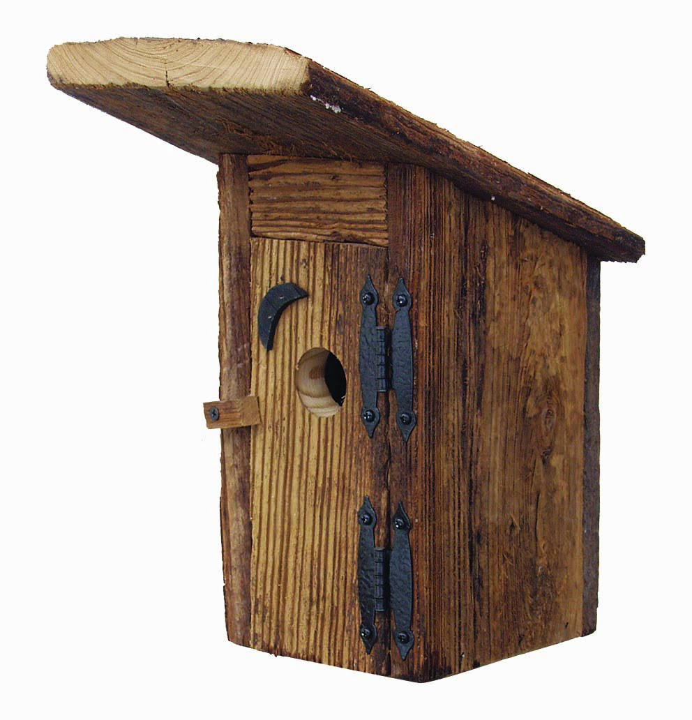 ROBH Rustic Outhouse Birdhouse