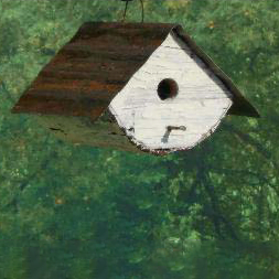 RTRBH rounded tin roof birdhouse