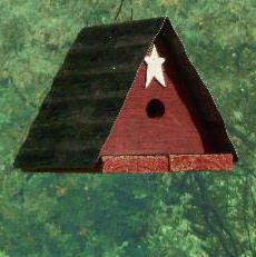 TTRBH triangle tin roof birdhouse
