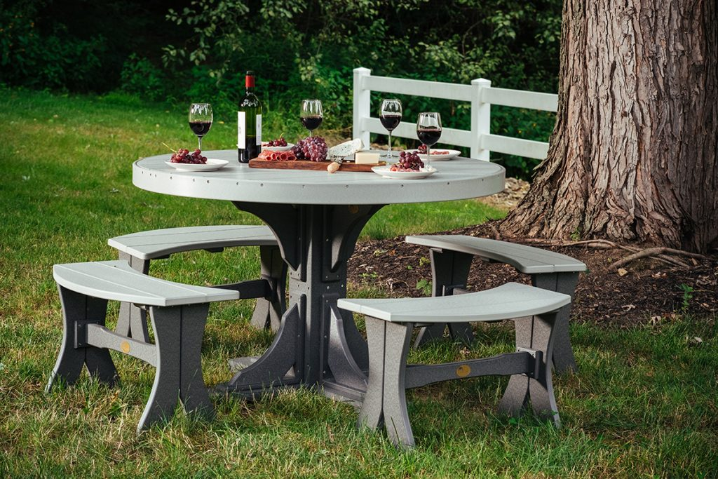 poly 4 round table set 3 dining height dove gray slate 1024x683 1