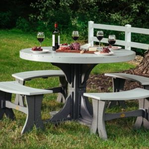 poly 4 round table set 3 dining height dove gray slate 1024x683 2