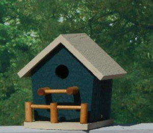 pobh birdhouse with porch hunter beige