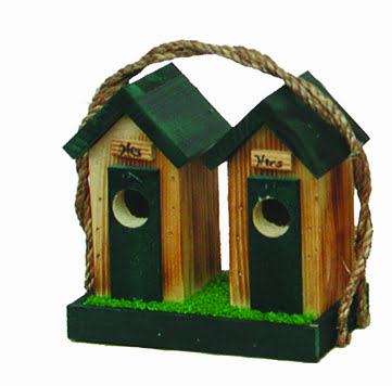 shhobh small his hers outhouse birdhouse