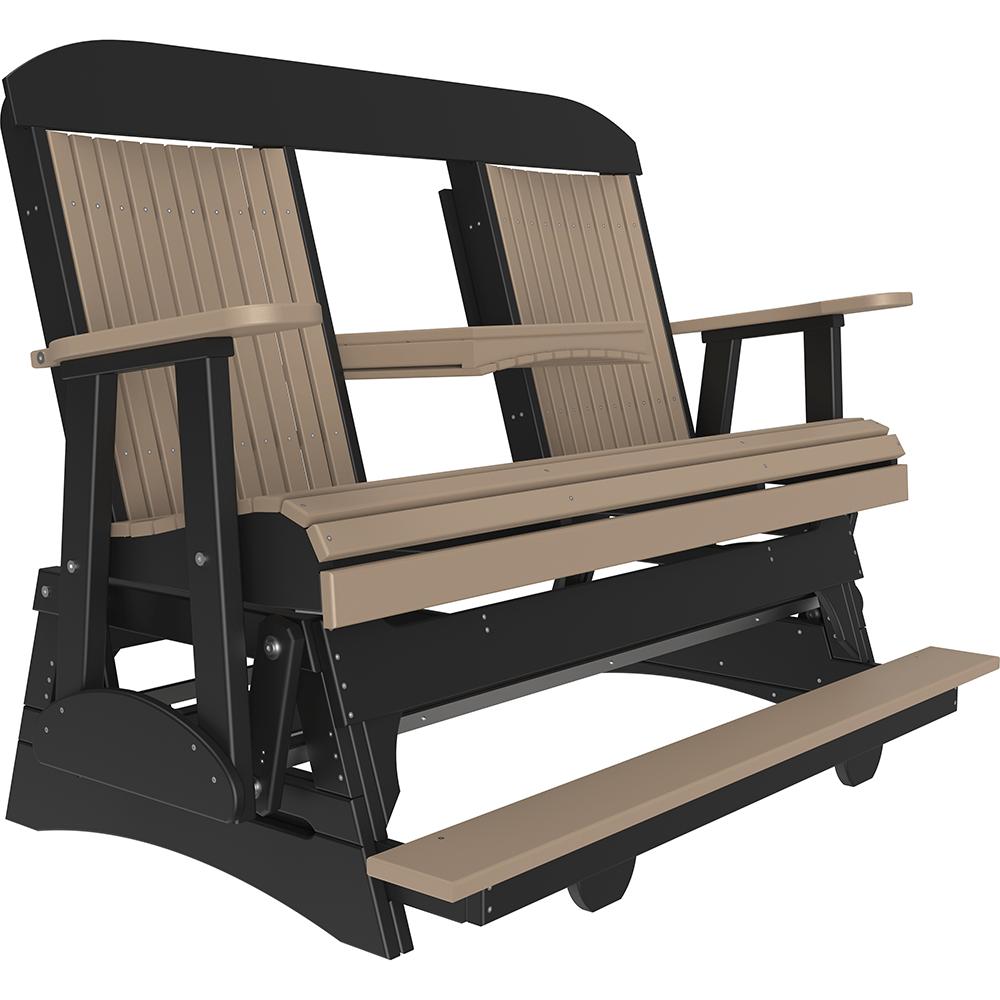 5cpbg 5 classic balcony gliderweathered wood black squared