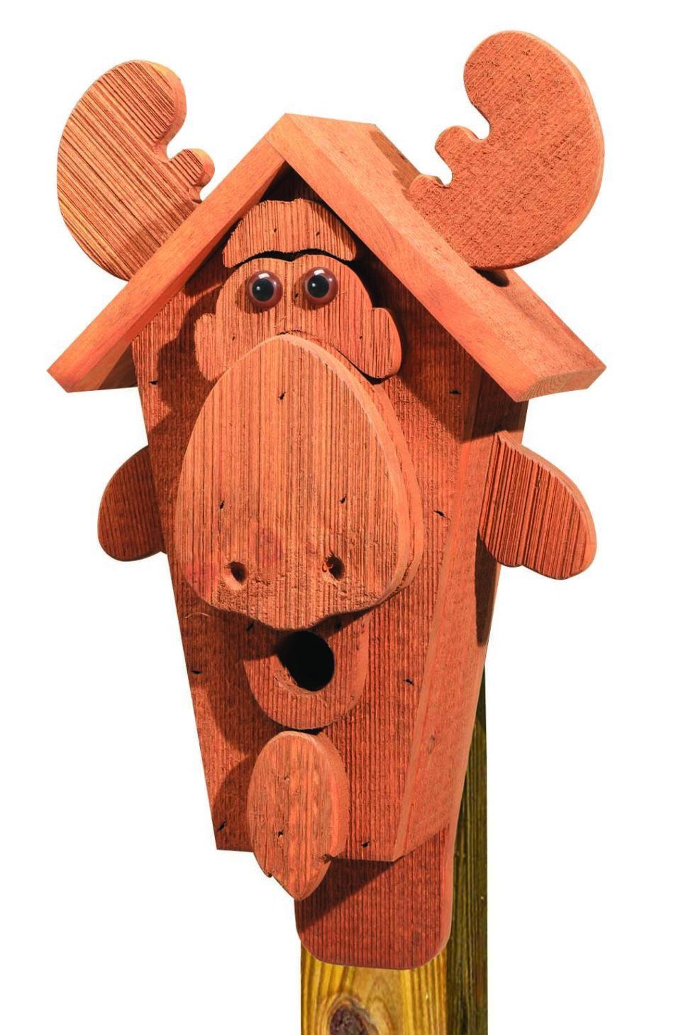 cabhm cartoon moose birdhouse