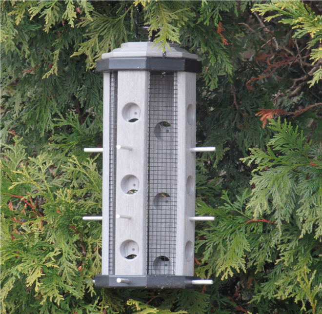 pff poly finch feeder with mesh